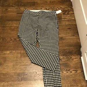 H&M gingham pants size 14 NWT
